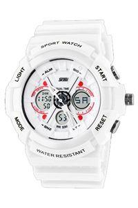 Picture of  Đồng hồ nam dây nhựa SKMEI Sport Watch 0966 (Trắng phối đỏ)