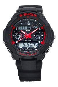 Picture of Đồng hồ nam dây nhựa SKMEI S-Shock 0931 (Mặt Đen Đỏ)