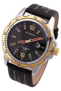 Picture of  Đồng hồ nam dây da Curren 8104 (Đen phối vàng)