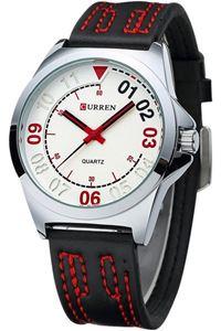 Picture of Đồng hồ nam dây da Curren 8153 (Đen phối đỏ)