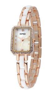 Picture of Đồng hồ nữ dây kim loại Kimio 452 (Vàng phối trắng)
