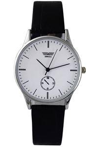 Picture of Đồng hồ nam dây da mặt trắng SWIDU 003 (Trắng)
