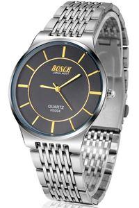 Picture of Đồng hồ nam dây inox BOSCK H3304 (Trắng mặt đen)