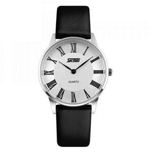 Picture of Đồng hồ nữ dây da Skmei 9092 (Đen mặt trắng)