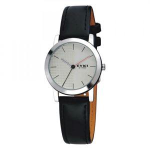 Picture of Đồng hồ nữ dây da EYKI 84KN10 (Đen mặt trắng)