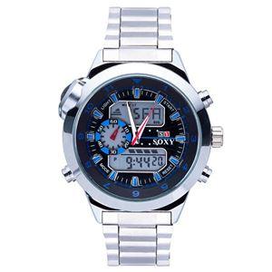 Picture of Đồng hồ nam dây thép không gỉ Soxy 14KN50 (Trắng phối xanh)