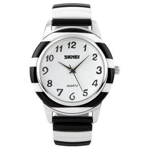 Picture of Đồng hồ nữ dây thép không gỉ Skmei 11KN05 (Đen phối trắng)