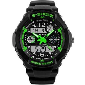 Picture of Đồng hồ nữ dây nhựa Sport Skmei S-Shock 10KN60-02 (Xanh Lá)