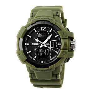 Picture of Đồng hồ nam dây nhựa SKMEI Sport Watch 10K0W40 (Xanh Rêu)