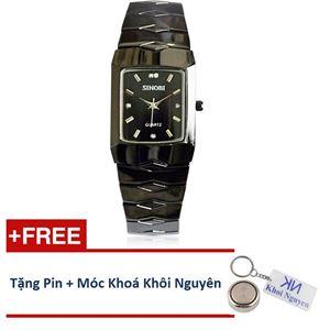 Picture of Đồng hồ nam dây thép không gỉ Sinobi 91KN48 (Đen)
