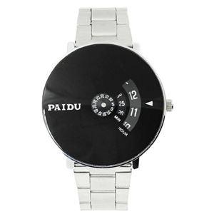 Picture of Đồng hồ nam dây inox Paidu K0N01 (Trắng Mặt Đen)