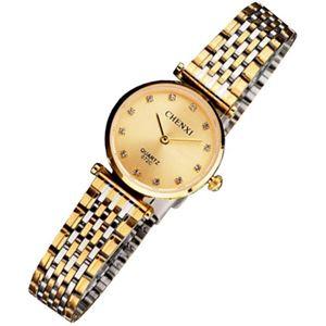 Picture of Đồng hồ nữ dây thép không gỉ Chenxi 07KN2C (Mặt Vàng)
