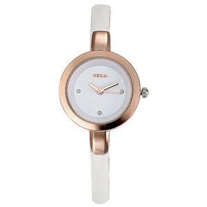 Picture of Đồng hồ nữ dây da Kezzi K575 (Trắng phối vàng)