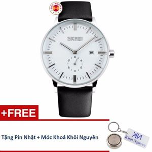 Picture of Đồng hồ nam dây da Skmei 90KCN83 + Tặng pin nhật và móc khoá Khôi Nguyên