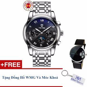 Picture of Đồng hồ nam cơ dây thép không gỉ 6 kim Tevise 90KCN05 + Tặng đồng hồ WMG và móc khoá Khôi Nguyên