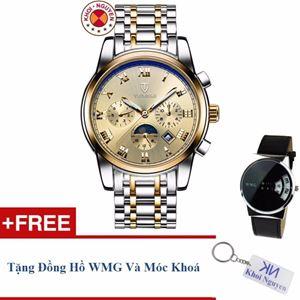 Picture of Đồng hồ nam cơ dây thép không gỉ 6 kim Tevise 90KCN05 demi + Tặng đồng hồ WMG và móc khoá Khôi Nguyên