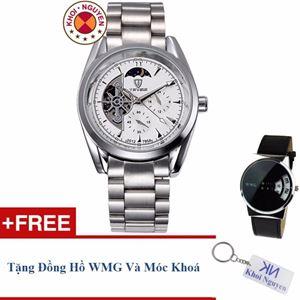 Picture of Đồng hồ nam cơ dây thép không gỉ Tevise 79KCN5A + Tặng đồng hồ WMG và móc khoá Khôi Nguyên