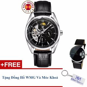 Picture of Đồng hồ nam cơ dây da Tevise 79KCN5A + Tặng đồng hồ WMG và móc khoá Khôi Nguyên