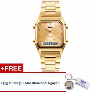 Picture of Đồng hồ nam dây thép không gỉ Skmei 12KCN20 (Vàng) + Tặng pin Nhật, móc khoá Khôi Nguyên