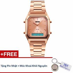 Picture of Đồng hồ nam dây thép không gỉ Skmei 12KCN20 (Hồng Vàng) + Tặng pin Nhật, móc khoá Khôi Nguyên