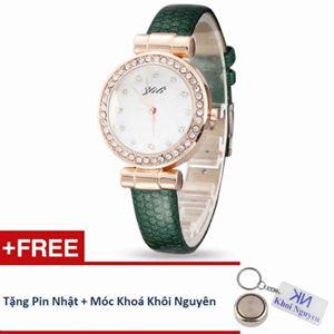 Picture of Đồng hồ nữ dây da Yili 70KCN29 (Xanh) + Tặng pin Nhật, móc khoá Khôi Nguyên