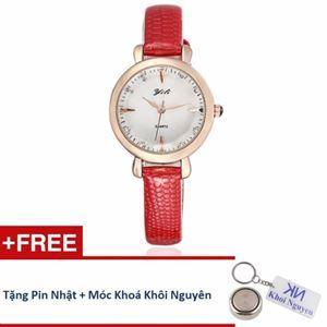 Picture of Đồng hồ nữ dây da Yili 70KCN17 (Đỏ) + Tặng pin Nhật, móc khoá Khôi Nguyên