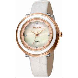 Picture of Đồng hồ nữ dây da Vilam V1010L-01 (Trắng phối vàng)