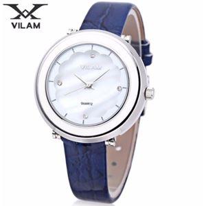 Picture of Đồng hồ nữ dây da Vilam V1010L-01 (Xanh phối trắng)