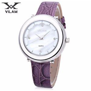 Picture of Đồng hồ nữ dây da Vilam V1010L-01 (Tím phối trắng)