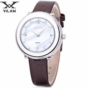 Picture of Đồng hồ nữ dây da Vilam V1010L-01 (Nâu phối trắng)