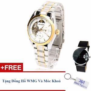 Picture of Đồng hồ nam cơ automatic dây thép không gỉ Wilon 20KCN12 (Trắng) + Tặng đồng hồ WMG và móc khoá