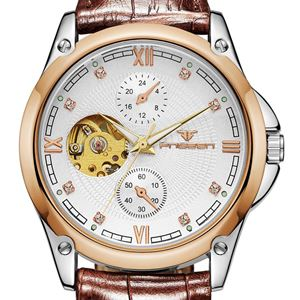 Picture of Đồng hồ nam cơ automatic dây da Fngeen 3579A