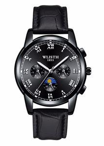 Picture of Đồng hồ nam dây da WLISTH S509 + Tặng pin Nhật và móc khóa